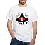 Black Hat Cafe White T-Shirt