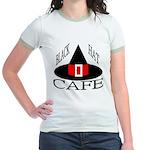 Black Hat Cafe Jr. Ringer T-Shirt