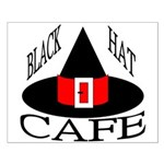 Black Hat Cafe Small Poster