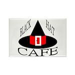 Black Hat Cafe Rectangle Magnet (100 pack)