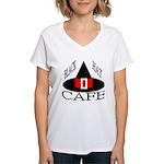 Black Hat Cafe Women's V-Neck T-Shirt