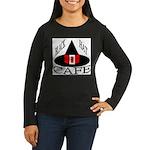 Black Hat Cafe Women's Long Sleeve Dark T-Shirt