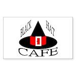 Black Hat Cafe Rectangle Sticker 10 pk)