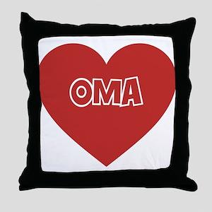 OMA Throw Pillow