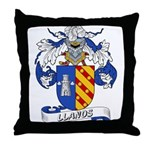 Llanos Family Crest Throw Pillow