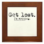 Get Lost Framed Tile