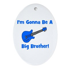 Gonna Be Big Brother - Blue G Oval Ornament