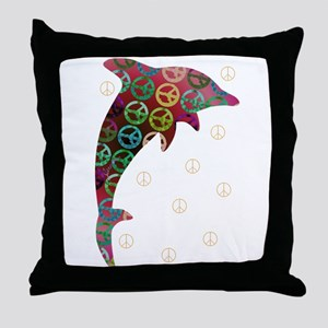Dolphin Peace - Tuesday Throw Pillow