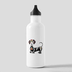Dachshund Sugar Skull Water Bottle