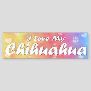Pastel Love Chihuahua Bumper Sticker