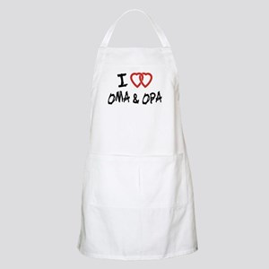 I Love Oma and Opa BBQ Apron