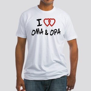I Love Oma and Opa Fitted T-Shirt