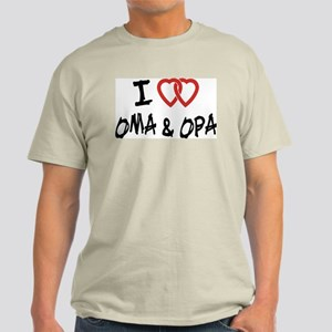 I Love Oma and Opa Light T-Shirt