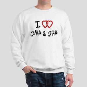 I Love Oma and Opa Sweatshirt