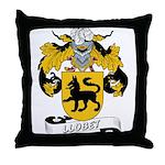 Llobet Family Crest Throw Pillow