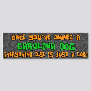 Just a Dog Carolina Dog Bumper Sticker