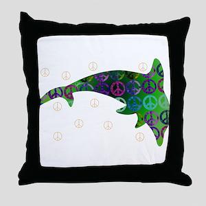 Dolphin Peace - Monday Throw Pillow