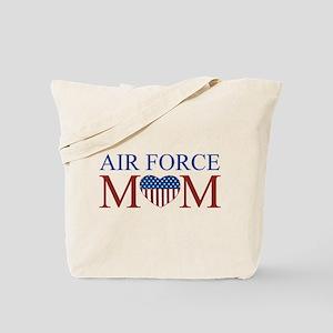 Patriotic Air Force Mom Tote Bag