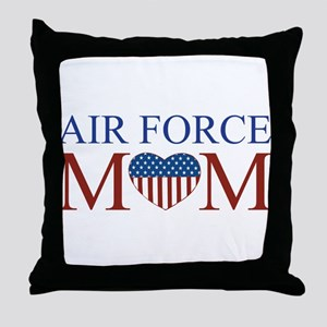 Patriotic Air Force Mom Throw Pillow