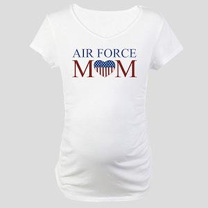 Patriotic Air Force Mom Maternity T-Shirt