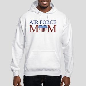 Patriotic Air Force Mom Hooded Sweatshirt