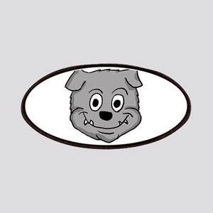 Gray Bulldog puppy head Patch
