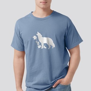 White Howling Wolf Silhouette T-Shirt