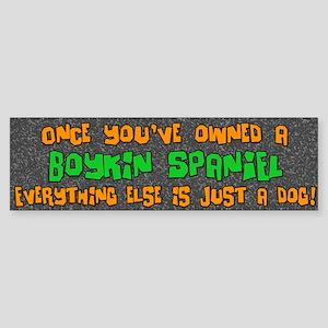 Just a Dog Boykin Spaniel Bumper Sticker