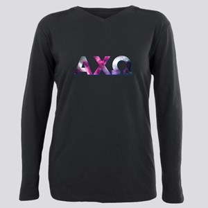 Alpha Chi Omega Galaxy Plus Size Long Sleeve Tee