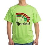 Just Married Green T-Shirt