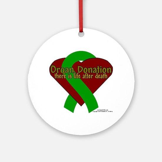 Organ Need Awareness Ornament (Round)