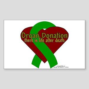 Organ Need Awareness Rectangle Sticker