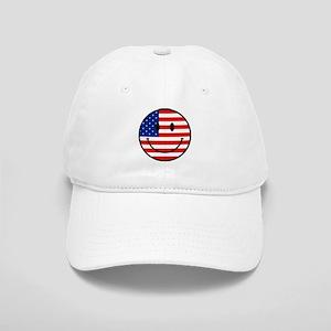 Patriotic Smiley Face Cap