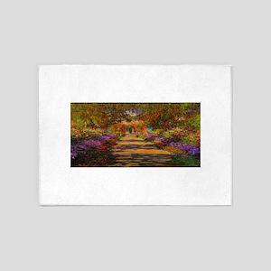 Claude Monet Garden in Giverny 5'x7'Area Rug