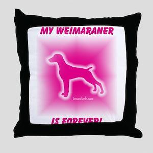 My Weimaraner Throw Pillow