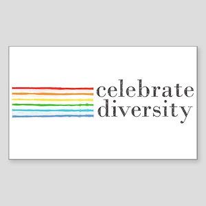 celebrate diversity Rectangle Sticker