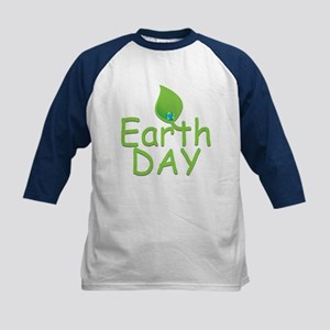 Earth Day Leaf Kids Baseball Jersey