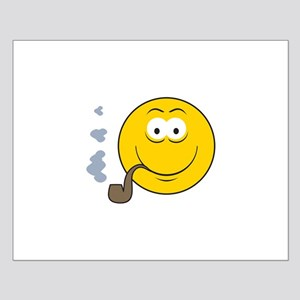 Pipe Smoking Smiley Face Small Poster