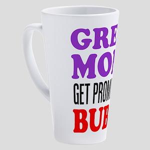Moms Promoted To Bubbe 17 oz Latte Mug