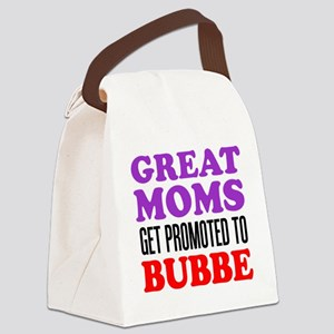 Moms Promoted To Bubbe Canvas Lunch Bag
