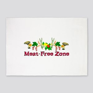 Meat-Free Zone 5'x7'Area Rug