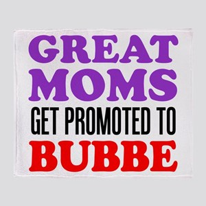 Moms Promoted To Bubbe Throw Blanket