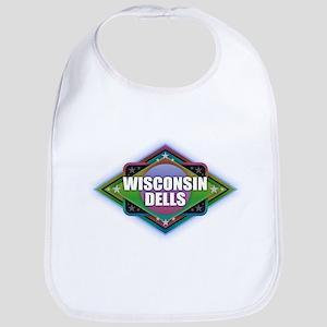 Wisconsin Dells Diamond Baby Bib