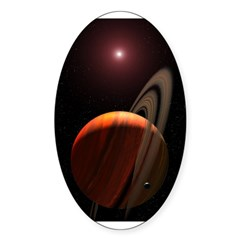 Space12 Oval Sticker (10 pk)