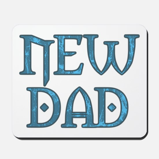 Blue Carved New Dad Mousepad
