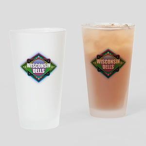 Wisconsin Dells Diamond Drinking Glass