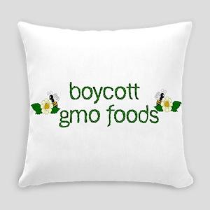 Boycott GMO Foods Everyday Pillow