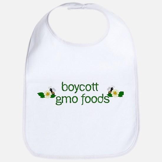 Boycott GMO Foods Cotton Baby Bib