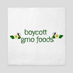 Boycott GMO Foods Queen Duvet