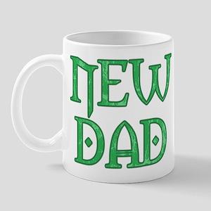 Green Carved New Dad Mug